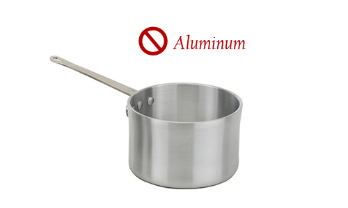 Aluminum - Common metal used to make all kinds of cookware