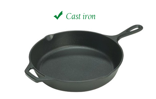 Avoiding 4 Most Common Kitchen Toxins With Green Cookware - Cast iron pan